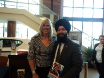 Silken Laumann (Inspirational Speaker & Olympian) & Sukhjit Singh
