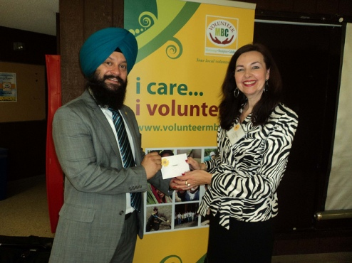 Sukhjit Singh & Carine Strong (VMBC Executive Director)