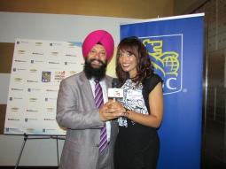 Sukhjit Singh & TV Anchor