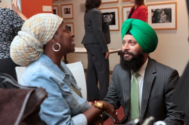Sharon Douglas (United Way) & Sukhjit Singh